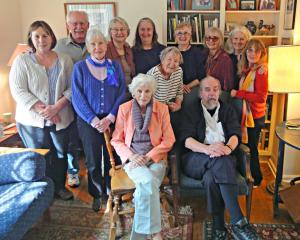 Mary Lou Walsh, Dick Allen (front); Jane Ulrich, Gordy Whiteman, Margaret Iacobellis, Karen Johnson, Sharon Olson, Jane Muir, Pat O'Brien, Gwen Gunn, Nancy Meneely, Audrey Fitting (back)