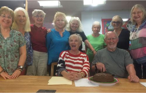 GPG 2016: Jen, Evelyn, Pat, Carol, Nan, Margaret, Gwen, Karen. Seated Julie and Gordy.